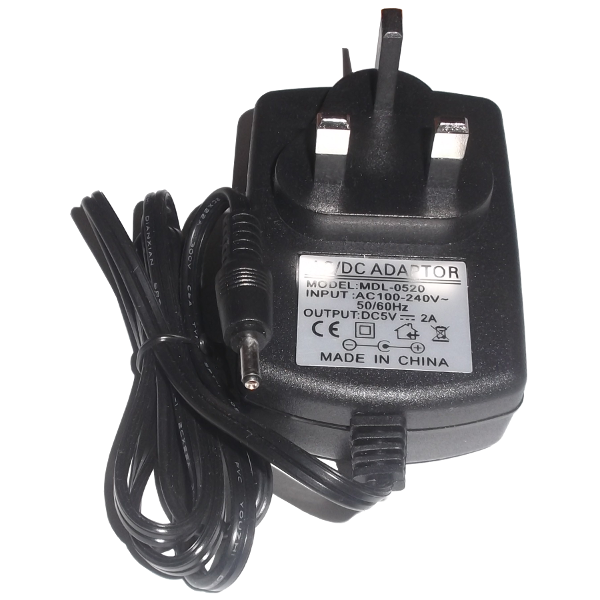 Universal Power Adapter 5V 2A Jack 3.5mm x 1.35mm MDL-0520 UK Plug