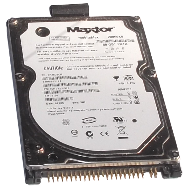 www.elcolap.com Maxtor Mobilemax 20060K0 Hard Drive 2.5 Inch Pata 60GB