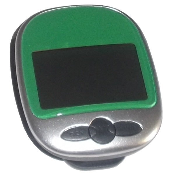 Pedometer Electronic Portable Waterproof Digital LCD green