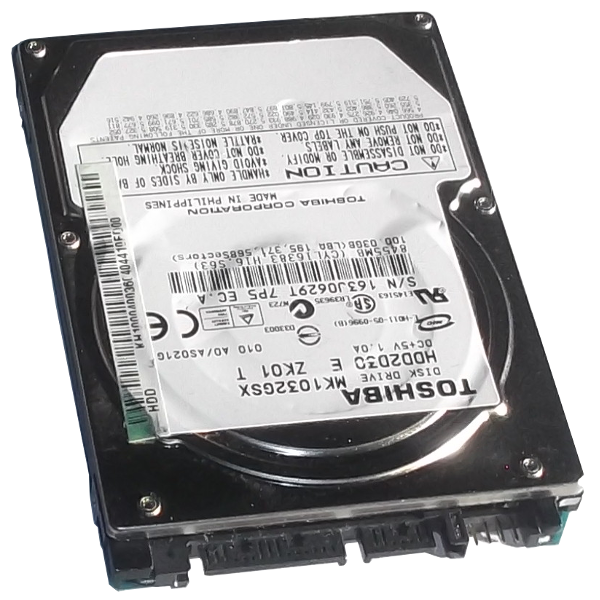 HDD Hard Disk Drive 2,5 Inch 100.03GB Sata Internal Toshiba HDD2D30 MK1032GSX