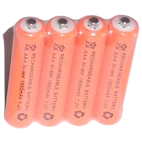 Rechargeable Battery AAA Ni-MH 1800mAh 1-2V