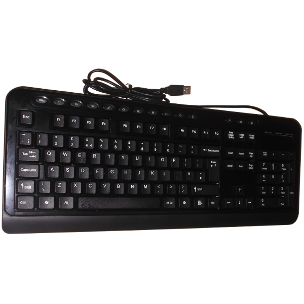 Wired Multimedia Keyboard USB Black CS20167