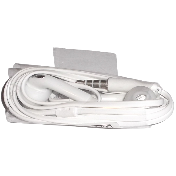 S6 Earphones 3.5mm with Microphone White